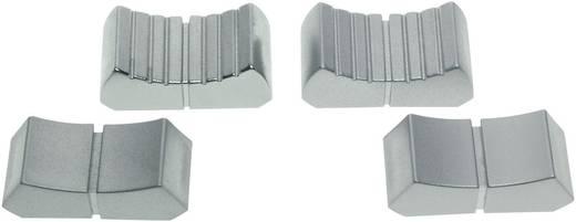 Tolópotméter gomb, jelölt, 18,5 x 1,2 mm, velúr/króm, ALPS 76655 FK12X26