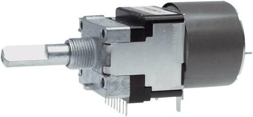 Motoros Sztereó potenciométer 6 mm-es tengellyel, D-log 10 kΩ max. 50 V/AC, ALPS RK16812MG 10KDX2