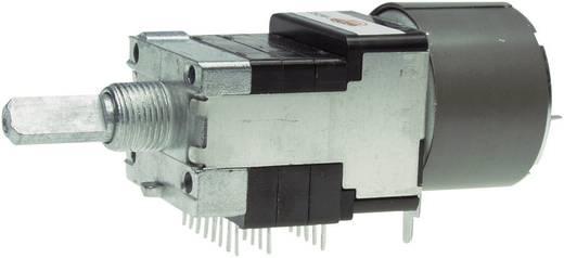 Motoros Sztereó potenciométer 6 mm-es tengellyel, D-log 10 kΩ max. 50 V/AC, ALPS RK16816MG 10KDX6