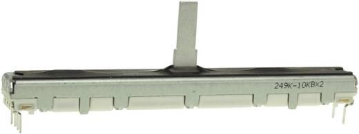 Miniatűr tolópotméter, sztereo, log, 10 kΩ 0,1 W ± 20 %, Alps RS60112 10KAX2 401514
