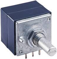 Forgó potméter, lin. sztereo 10 kΩ 0,05 W ± 20 %, ALPS RK27112 10KBX2CC 186354 (186354) ALPS