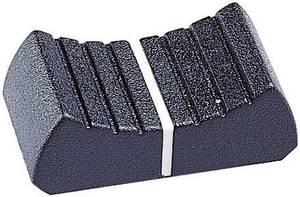 Tolópotméter gomb, fekete (H x Sz x Ma) 24.8 x 12.6 x 9 mm, PB Fastener 4/02/LK 110 02, 1 db PB Fastener