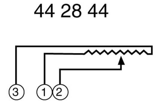 Stúdio fader, mono, lin, 10 kΩ 0,5 W, ALPS 192494