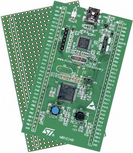 Fejlesztő készlet STM32 F0 sorozathoz STM32F051 MCU-val, STMicroelectronics STM32F0DISCOVERY