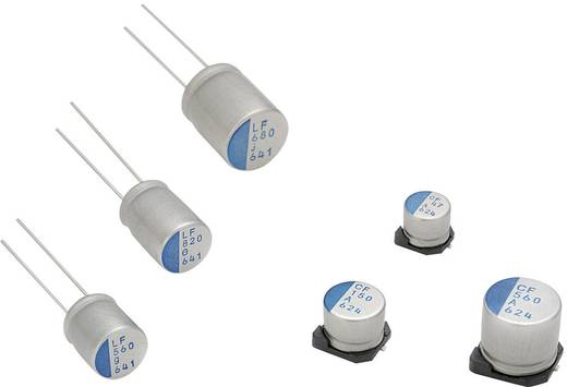 Elektrolit kondenzátor, radiális, álló, 5 mm 220 µF 16 V/DC 20 % (Ø x H) 10 x 13 mm Nichicon PLV1C221MDL1