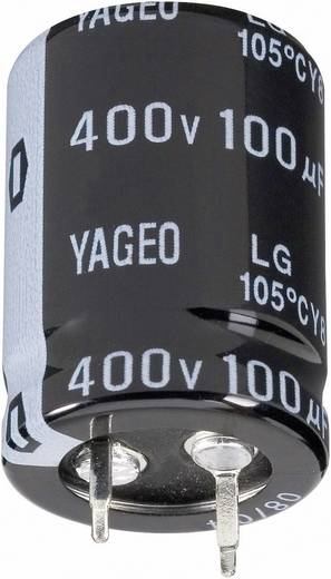 Elektrolit kondenzátor, Snap-in, 105°C RM 10 mm 1000 µF 100 V 20 % Ø 22 x 35 mm Yageo LG100M1000BPF-2235