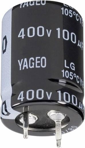 Elektrolit kondenzátor, Snap-in, 105°C RM 10 mm 2200 µF 63 V 20 % Ø 22 x 35 mm Yageo LG063M2200BPF-2235