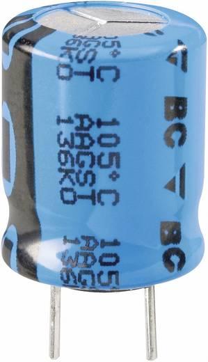 Elektrolit kondenzátor, álló elkó, radiális, LOW ESR 105° 100µ 63V