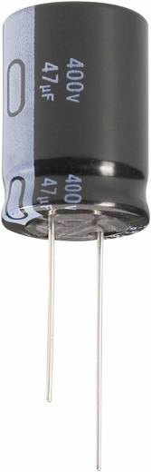Nagyteljesítményű elektrolit kondenzátor, álló elkó, LONGLIFE, 10µF450V