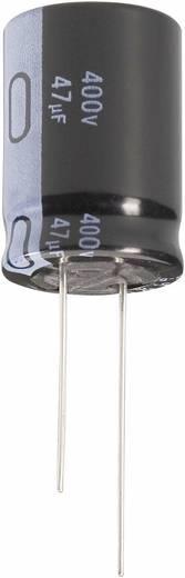 Nagyteljesítményű elektrolit kondenzátor, álló elkó, LONGLIFE, 22µF400V