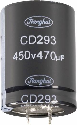 Nagyteljesítményű elektrolit kondenzátor, LONGLIFE, Snap-in, 100 µF450 V
