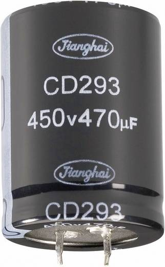 Nagyteljesítményű elektrolit kondenzátor, LONGLIFE, Snap-in, 470 µF400 V