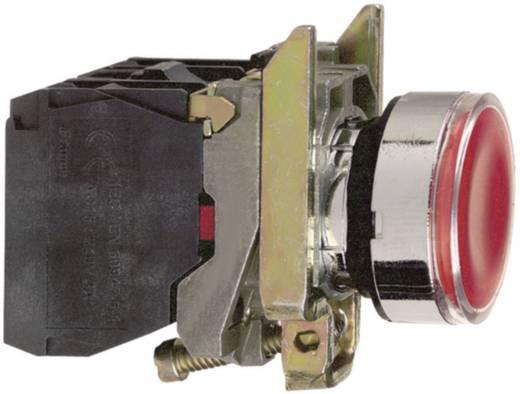 Világítós nyomógomb, lapos, piros, Schneider Electric Harmony XB4BW34B5