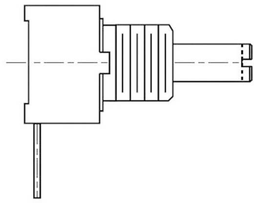 Forgó potméter, lin. fekvő, 9 mm 10 kΩ 0,25 W ± 20 %, Bourns 3310C-001-103L