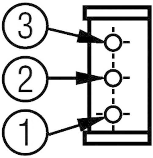 Trimmer potméter 0,5 W, álló, oldalt állítható 5 kΩ 0,5 W ± 10 % Bourns THT 3296X-1-502LF