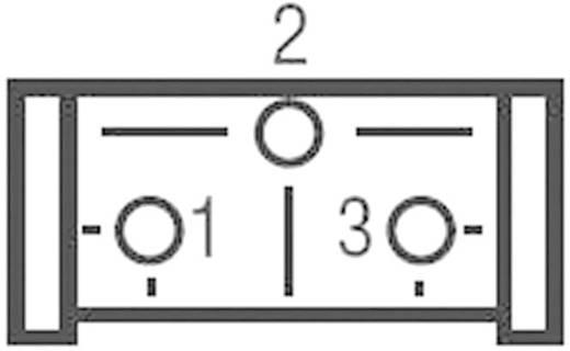 Miniatűr trimmer potméter, lineáris, álló, oldalt állítható, 0,5 W 5 kΩ 310° Bourns 3386H-1-502LF