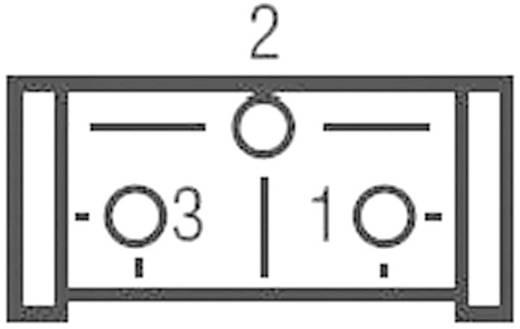 Miniatűr lineáris trimmer potméter, fekvő kivitelű, felső állítással 0.5 W 2 kΩ 310 ° Bourns 3386P-1-202LF
