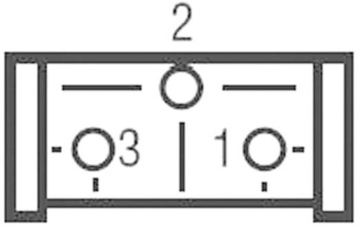 Miniatűr trimmer potméter, lineáris, fekvő, felül állítható, 0,5 W 500 kΩ 310° Bourns 3386P-1-504LF