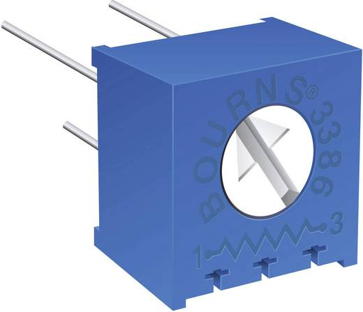 Miniatűr lineáris trimmer potméter, fekvő kivitelű, felső állítással 0.5 W 1 kΩ 310 ° Bourns 3386F-1-102LF