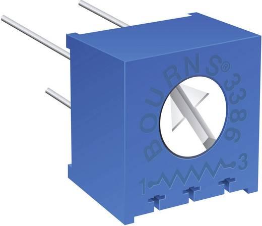Miniatűr trimmer potméter, lineáris, fekvő, felül állítható, 0,5 W 10 kΩ 310° Bourns 3386F-1-104LF