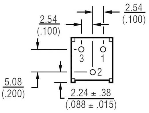 Miniatűr lineáris trimmer potméter, fekvő kivitelű, felső állítással 0.5 W 20 kΩ 310 ° Bourns 3386F-1-203LF