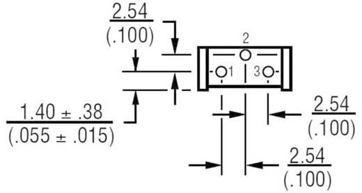 Miniatűr lineáris trimmer potméter, álló kivitelű, oldalsó állítással 0.5 W 100 Ω 310 ° Bourns 3386H-1-101LF