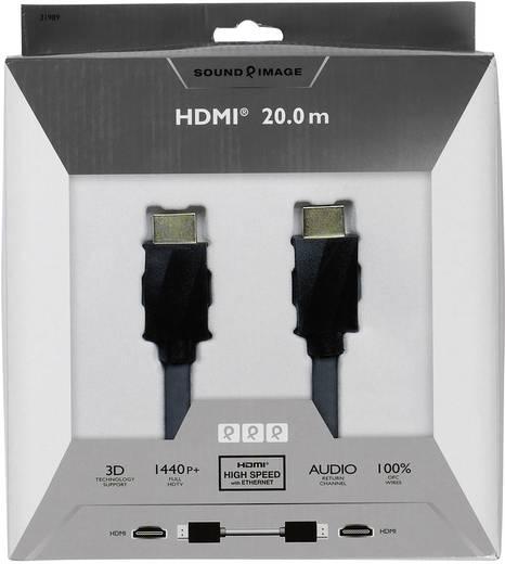 HDMI csatlakozókábel [1x HDMI dugó 1x HDMI dugó] 20 m fekete Sound & Image