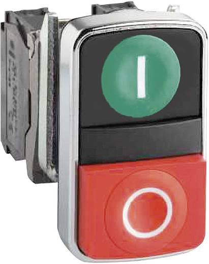 Kettős nyomógomb, lapos, zöld/piros, Schneider Electric Harmony ZB4BA7341