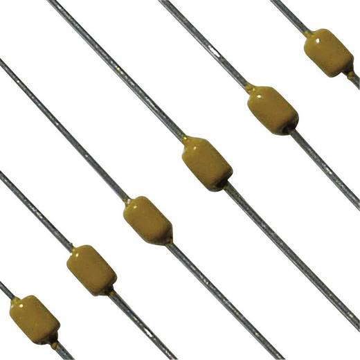 Axiális többrétegű kondenzátor, 100nF, 50V, ± 10%