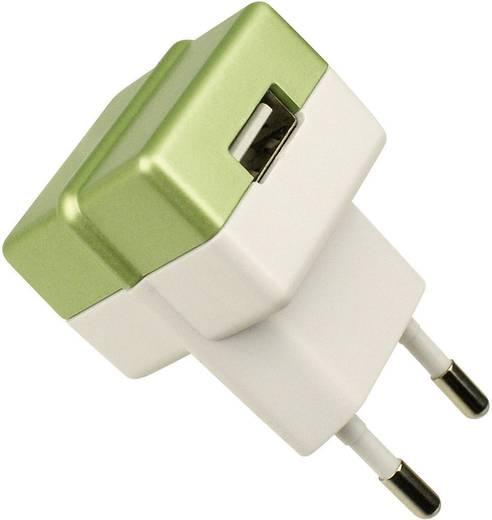 USB-s töltő, 100-240 V/AC, 1000 mA, HNP05-ECO-GREEN-C