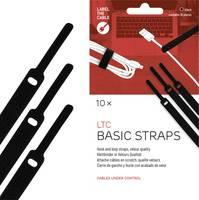 Tépőzáras kábelkötöző, velúr, 170x14 mm, fekete, 10 db (LTC 1110) Label the Cable