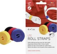 Tépőzár, velúr, sárga/fekete/piros/kék, LTC 1230, 1 tekercs (LTC 1230) Label the Cable