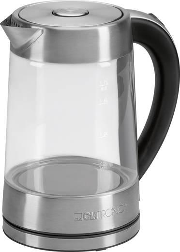 Vízforraló üveg tartállyal 2200 W, üveg/rozsdamentes acél, Clatronic 261675