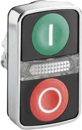 Kettős nyomógomb világítással, zöld/piros, Schneider Electric Harmony ZB4BW7A3741