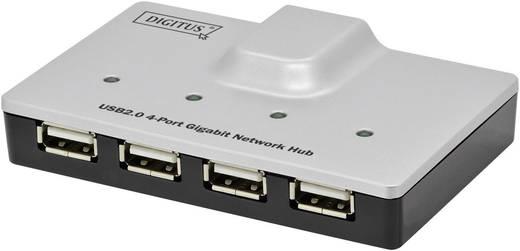 Hálózati USB-s szerver LAN (10/100/1000 MBit/s)USB Digitus DA-70252
