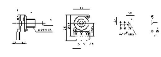 Forgó potméter, mono, 0,2 W 1 kΩ Potentiometer Service GmbH 2002 16 W4B8L30 1KLIN