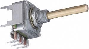Forgó potméter, mono, 0,2 W 10 kΩ Potentiometer Service GmbH 3005 16S W4B8L30 10KLIN (3005) Potentiometer Service