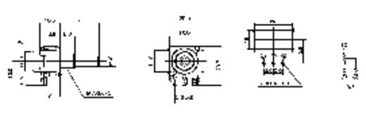 Forgó potméter, mono, 0,2 W 100 kΩ Potentiometer Service GmbH 3008 16S W4B8L30 100KLIN