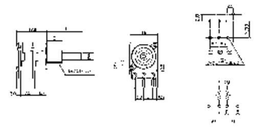 Forgó potméter, sztereo, 0,2 W 5 kΩ Potentiometer Service 4004 LIN