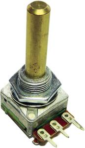 Forgó potméter, mono 0,2 W 5 kΩ Potentiometer Service GmbH 2164 ALPHASTAT 16 M10 5K LIN (2164) Potentiometer Service