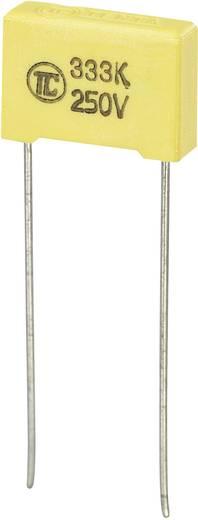 MKS fóliakondenzátor, radiális, álló 0,033 µF 250 V/DC 5 % RM 10 mm 13 x 4 x 9 mm