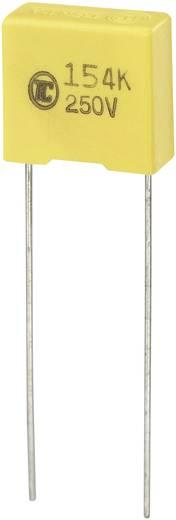 MKS fóliakondenzátor, radiális, álló 0,15 µF 250 V/DC 5 % RM 10 mm 13 x 6 x 12 mm