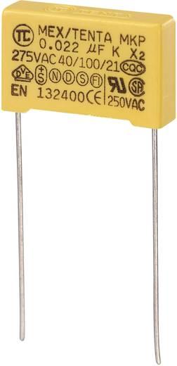MKP kondenzátor X2, 0,022 µF, 275 V/AC, ±10 %, 18 x 5 x 11 mm, raszter: 15 mm
