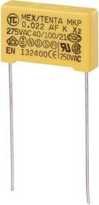 MKP kondenzátor X2, 0,022 µF, 275 V/AC, ±10 %, 18 x 5 x 11 mm, raszter: 15 mm (450207)