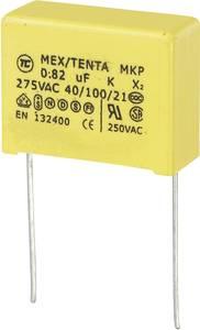 MKP kondenzátor X2, 0,82 µF, 275 V/AC, ±10 %, 26 x 11 x 20 mm, raszter: 22,5 mm (450209)