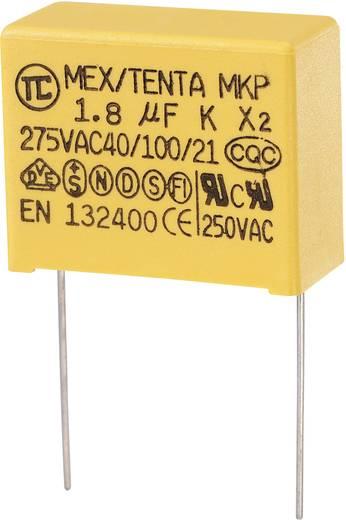 MKP kondenzátor X2, 1,8 µF, 275 V/AC, ±10 %, 32 x 14 x 25 mm, raszter: 27,5 mm