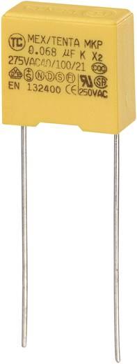 MKP kondenzátor X2, 0,068 µF, 275 V/AC, ±10 %, 13 x 6 x 12 mm, raszter: 10 mm