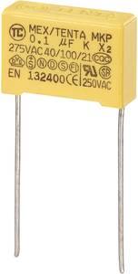 MKP kondenzátor X2, 0,15 µF, 275 V/AC, ±10 %, 18 x 6 x 12 mm, raszter: 15 mm (450225)