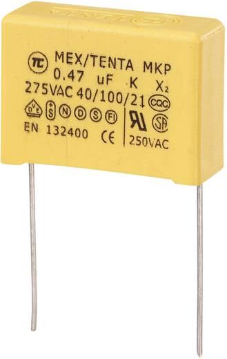 MKP kondenzátor X2, 0,47 µF, 275 V/AC, ±10 %, 26,5 x 10 x 19 mm, raszter: 22,5 mm