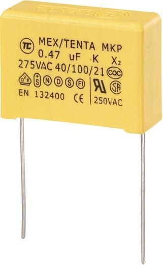 MKP kondenzátor X2, 0,47 µF, 275 V/AC, ±10 %, 26,5 x 8,5 x 17 mm, raszter: 22,5 mm